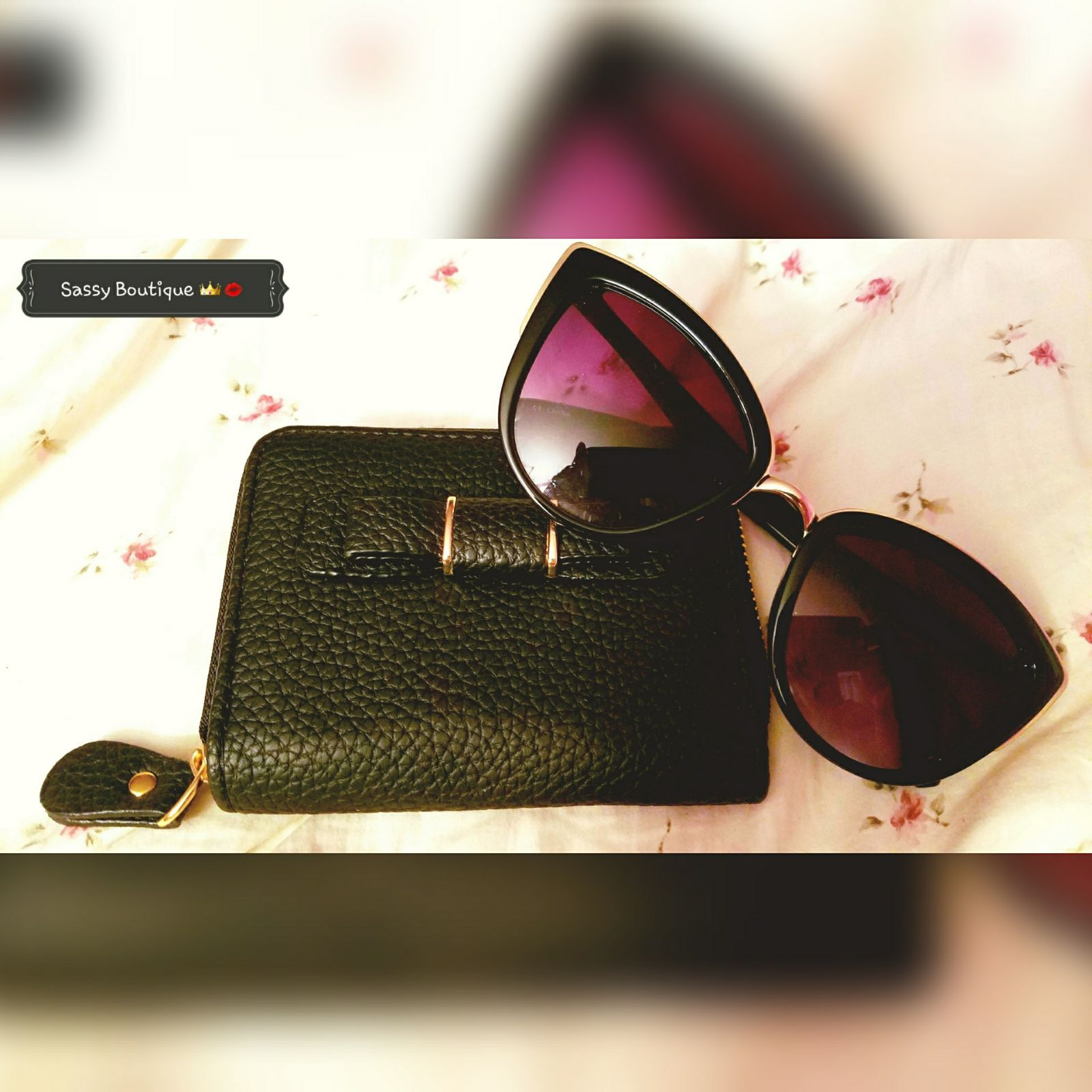 Uncategorized Leather Like Material cute small wallet with a bow on it very strong leather like material