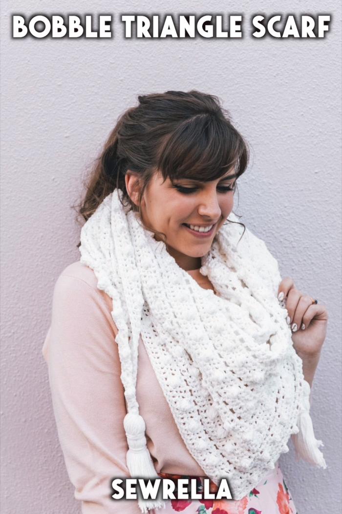 Photo of Crochet Bobble Triangle Scarf – free pattern