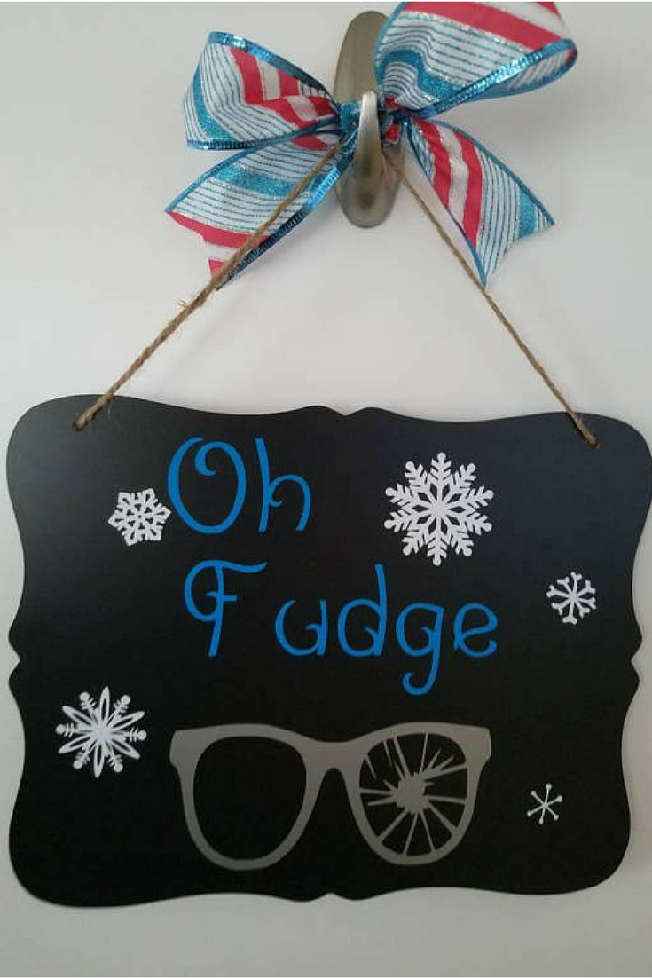 $14.99 Christmas story home decor, Christmas story sign, oh fudge ...