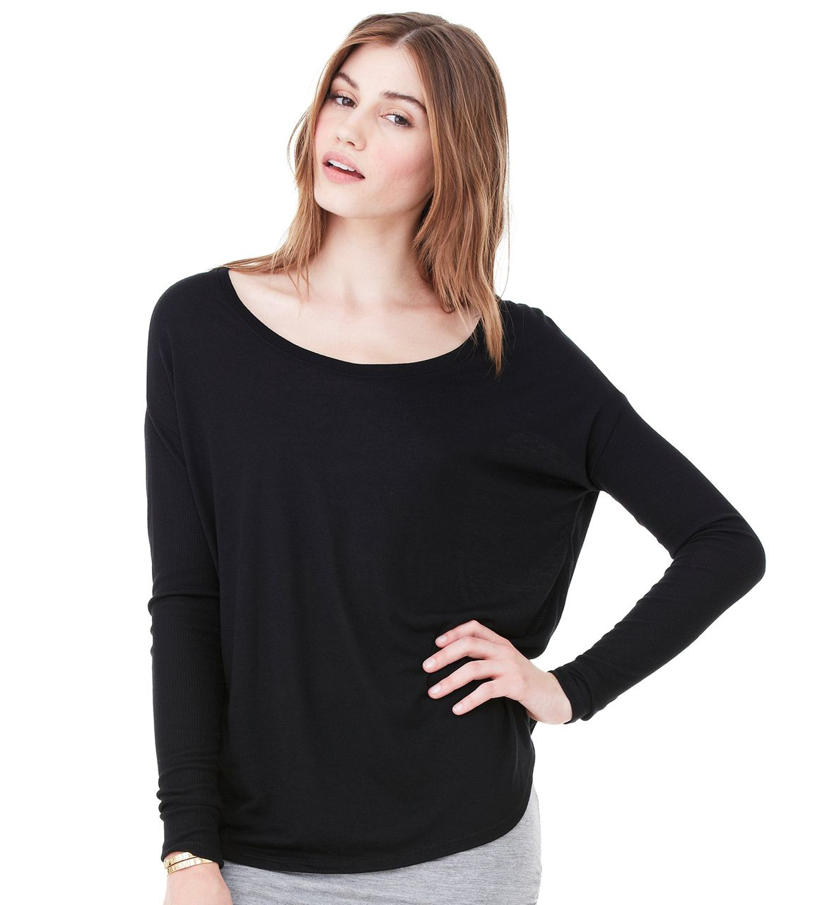 Bella Canvas 8852 Ladies Flowy Long Sleeve T Shirt