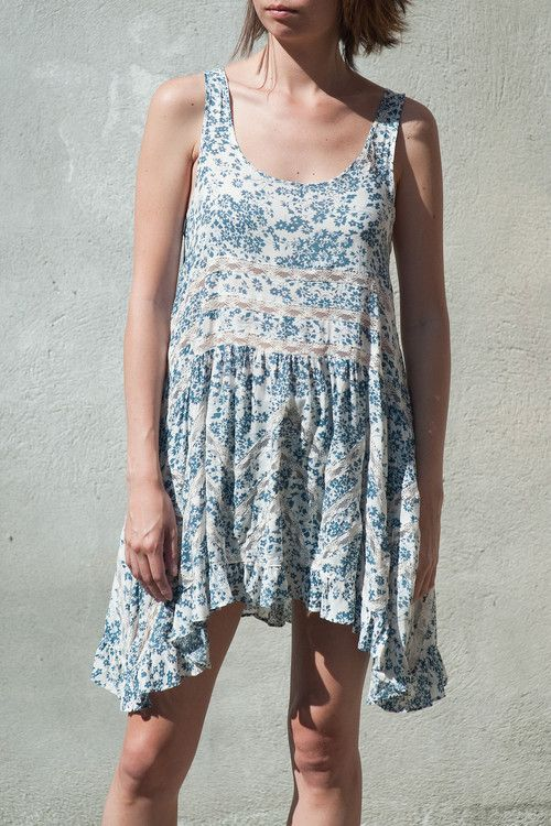 Floral Trapeze Top via Free People