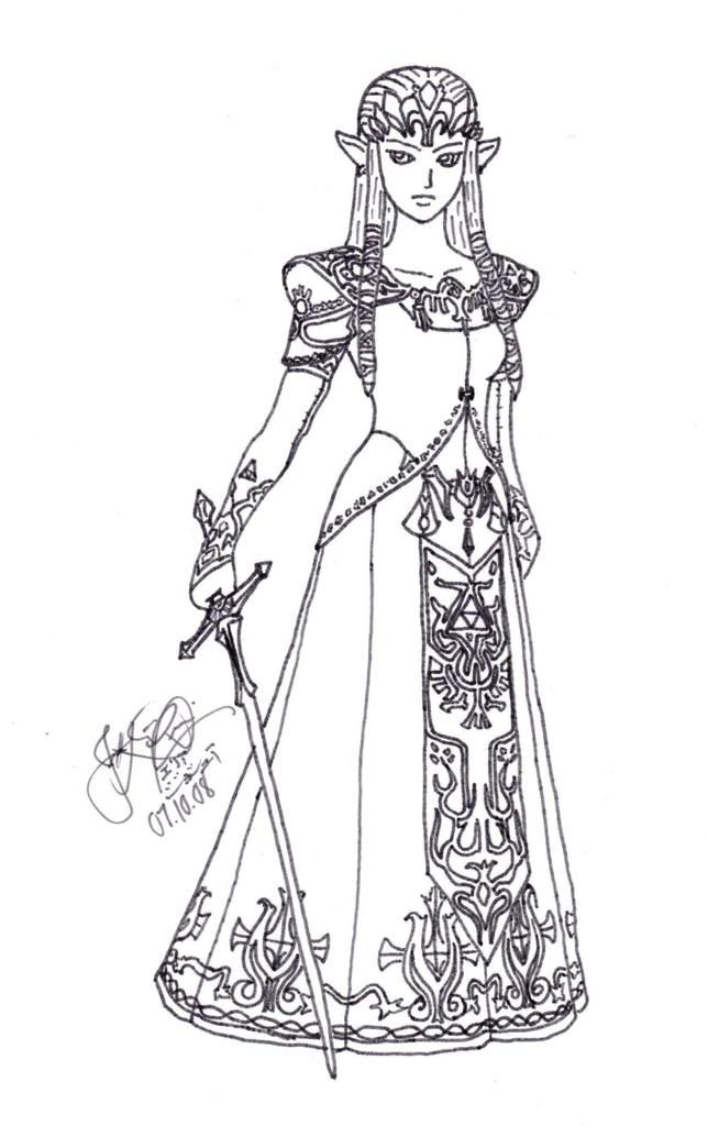Princess Zelda Coloring Pages Photo 66056 Princess Coloring