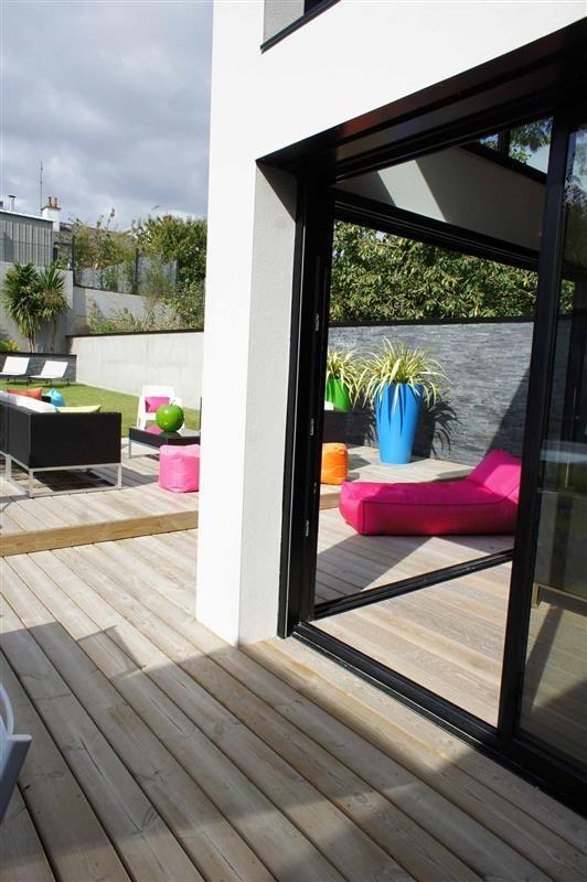 Terrasse en Pin - - Paysagiste Conseil Rennes | EXTÉRIEURS A ...