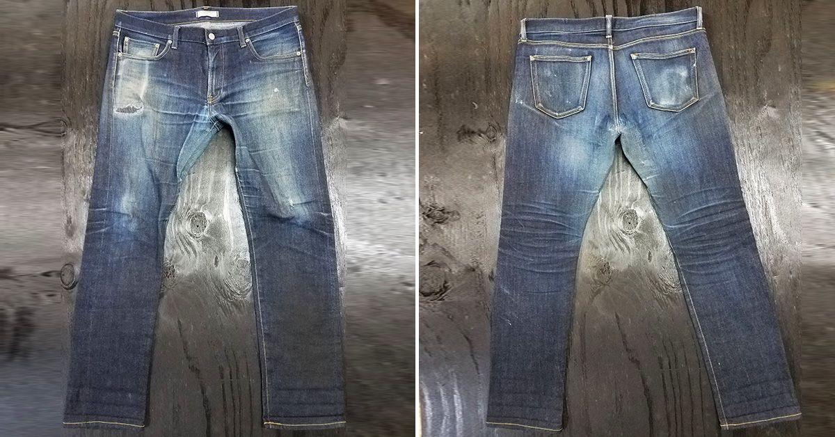 e5848abb Fade of the Day - Uniqlo Slim Fit Straight Selvedge (15 Months 3 Soaks)