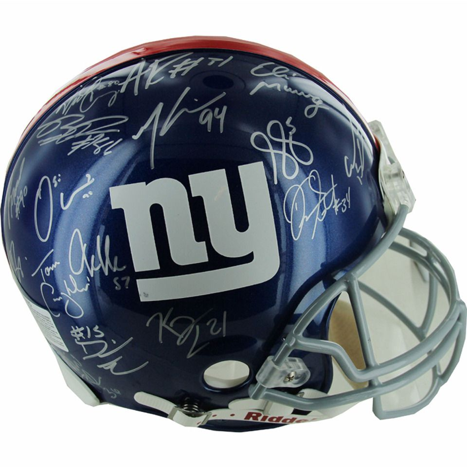 If I had an extra $2500 to spare this would the perfect gift for a certain someone in my life--Steiner Sports New York Giants Team Signed 2011 Helmet Super Bowl XLVI - Beyond the Rack
