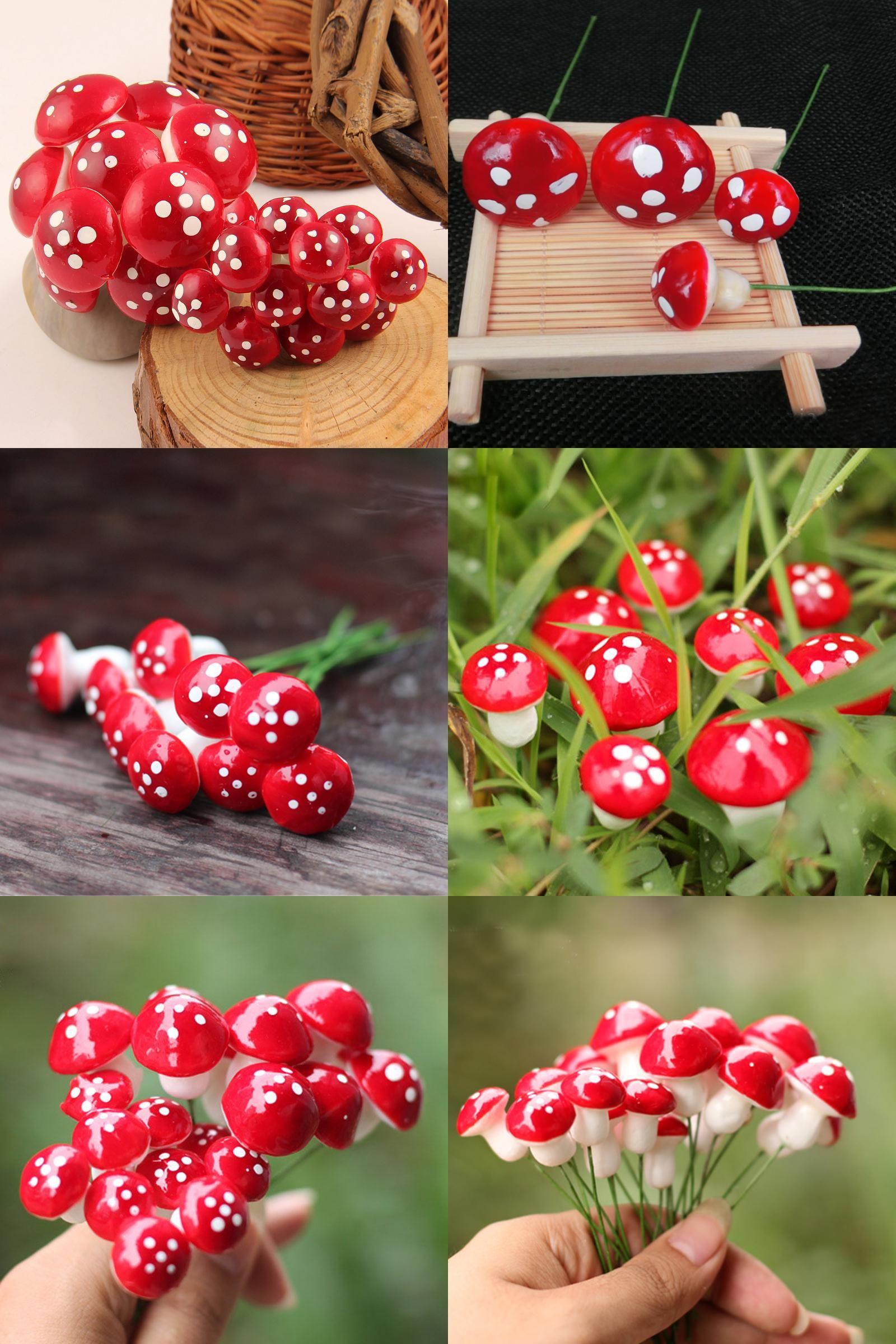 Visit to Buy] 50 PCS Garden Ornament Plant Pots Fairy Garden ...