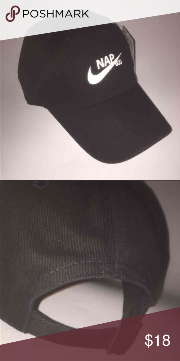 8099679a778 NAP GOD HAT NWT Black strapback adjustable dad hat with tuck pocket  NEW   Ignore tags  huf