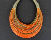 Statement Fiber Necklace Minimalist Jewelry por superlittlecute