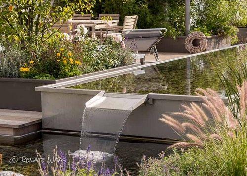 Moderner garten mit wasser  Moderner Garten mit Wasserbecken bei München #Pennisetum #Water ...
