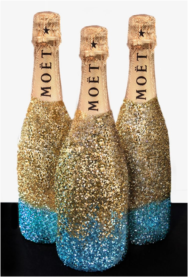 Decorating Wine Bottles With Glitter 11 Diy Wine Glasses For New Year's Eve  Wine And Glass