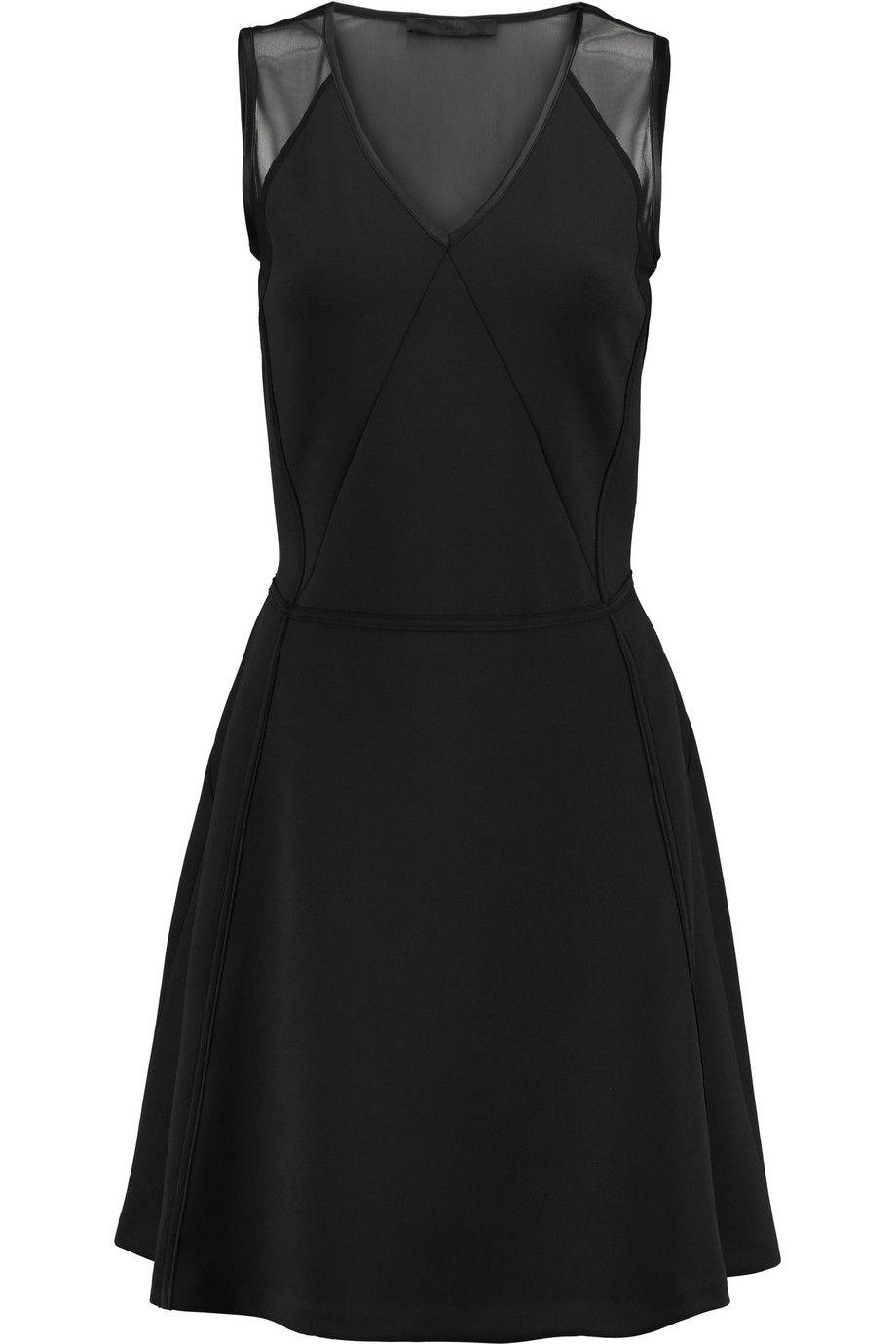 Karl Lagerfeld Jade mesh-paneled stretch-jersey dress
