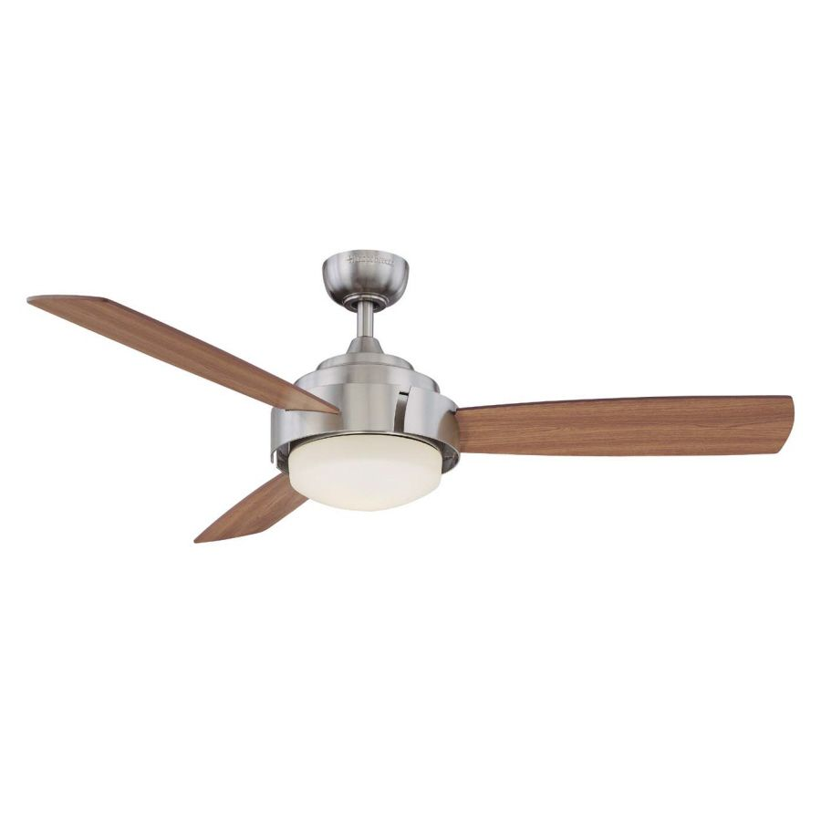 Harbor Breeze 52 In Elevation Brushed Nickel Ceiling Fan With Light Kit And Remote At Com