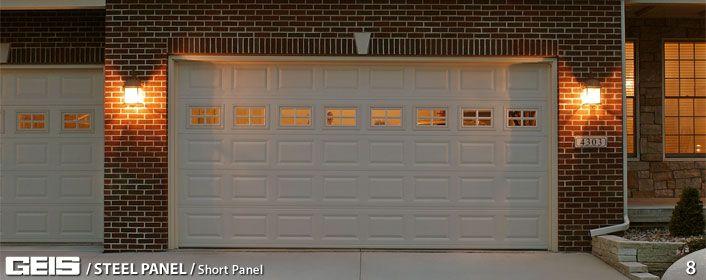 Stamped Steel Wide Panel Garage Door Garage Doors Garage Doors For Sale Doors