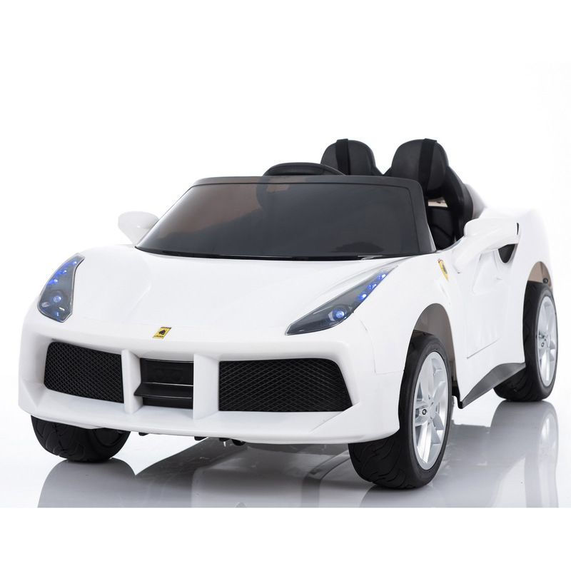 2 Seat Kids Electric Ride On Sports Car - White 12V