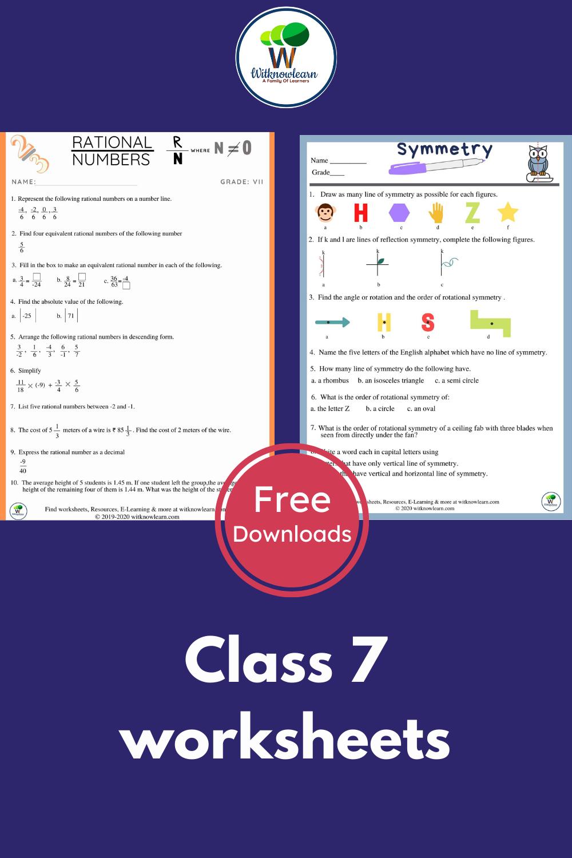 hight resolution of Maths worksheet for class 7   Math worksheet