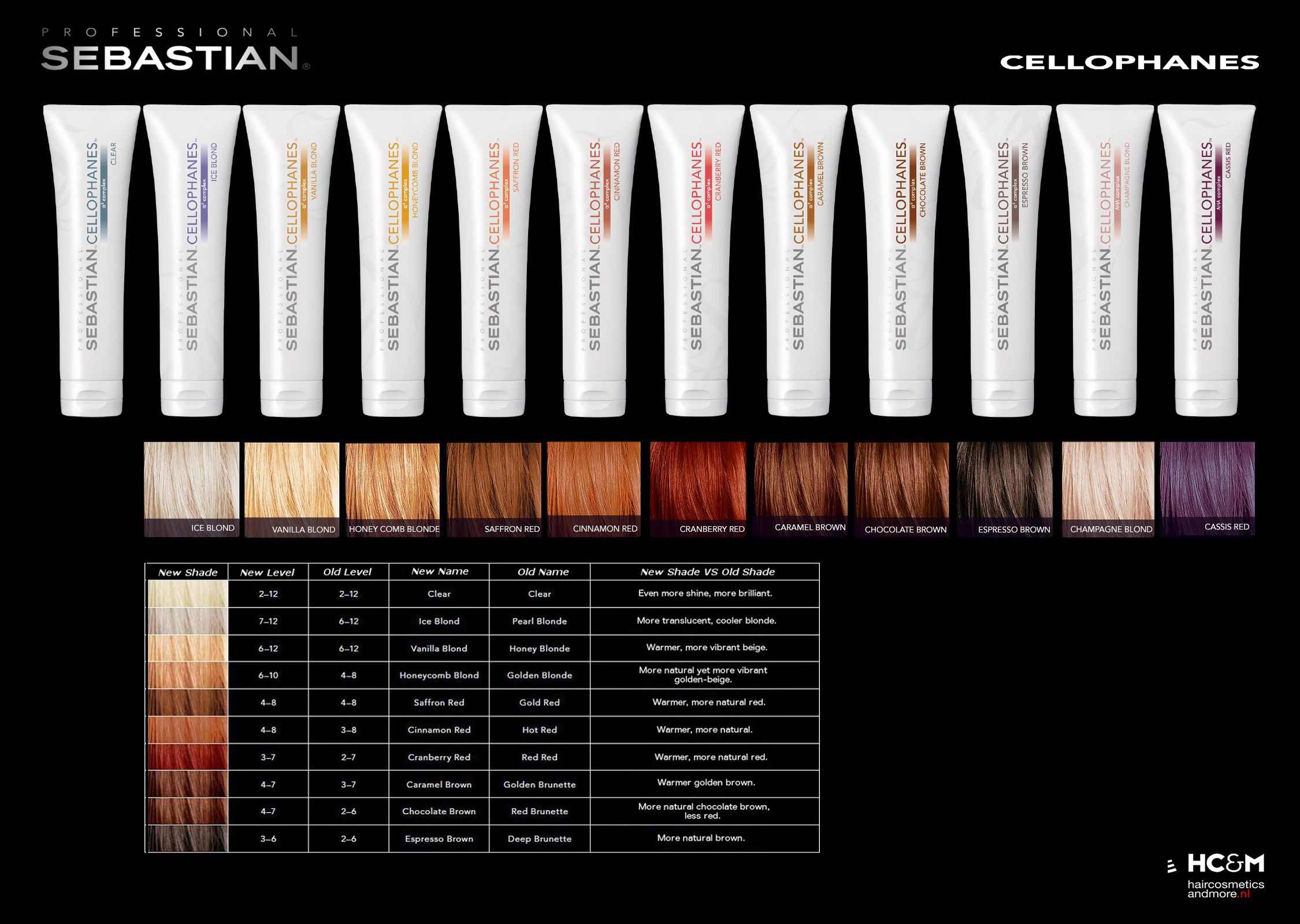 cellophane sebastian  Sebastian Professional Cellophanes Color Chart. | Hair products in ...