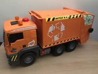 Bruder Style Air Powered Man Recycling Refuse Toy Bin Lorry Working Tipper Truck Lorry Trucks