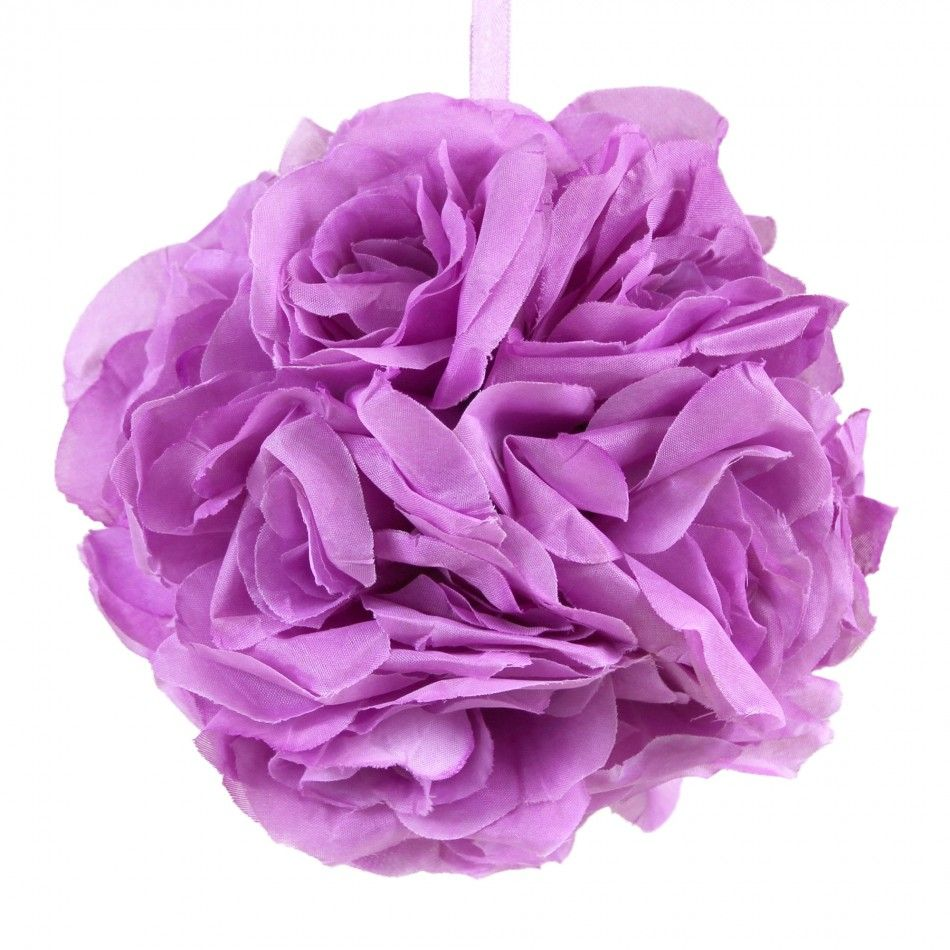 6 Full Rose Ball Pomander, Plum Purple [CLE GV Full Rose Ball PLM ...