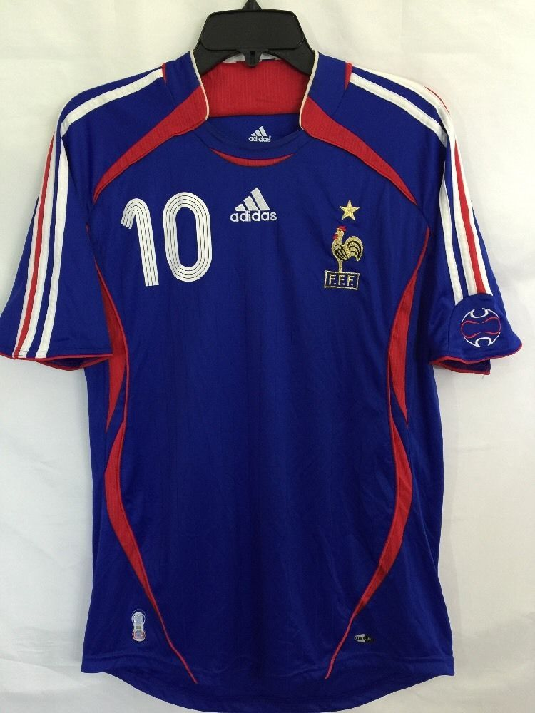 2006 France Jersey Shirt Maillot Home Adidas World Cup Zidane  10 Medium M   adidas  France 42d6529a5
