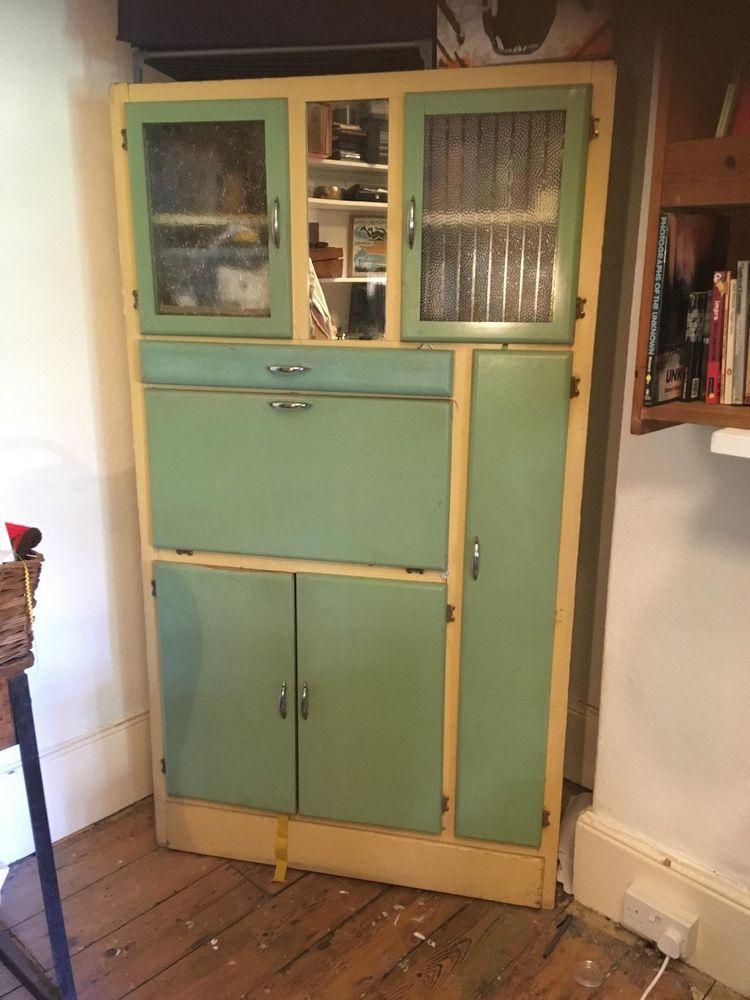 Retro Vintage Kitchen Unit Larder Pantry Cupboard 1950 S Original Retro Kitchen Vintage Kitchen Cabinets Kitchen Units