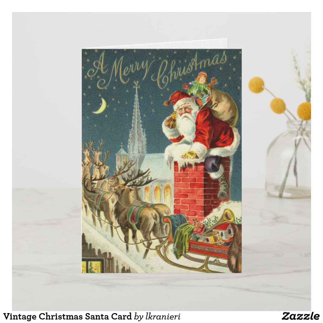 vintage christmas santa card in 2018 christmas images products