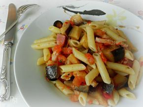 Macarrones A La Siciliana Pasta De Berenjenas Comida Siciliana Recetas De Pastas