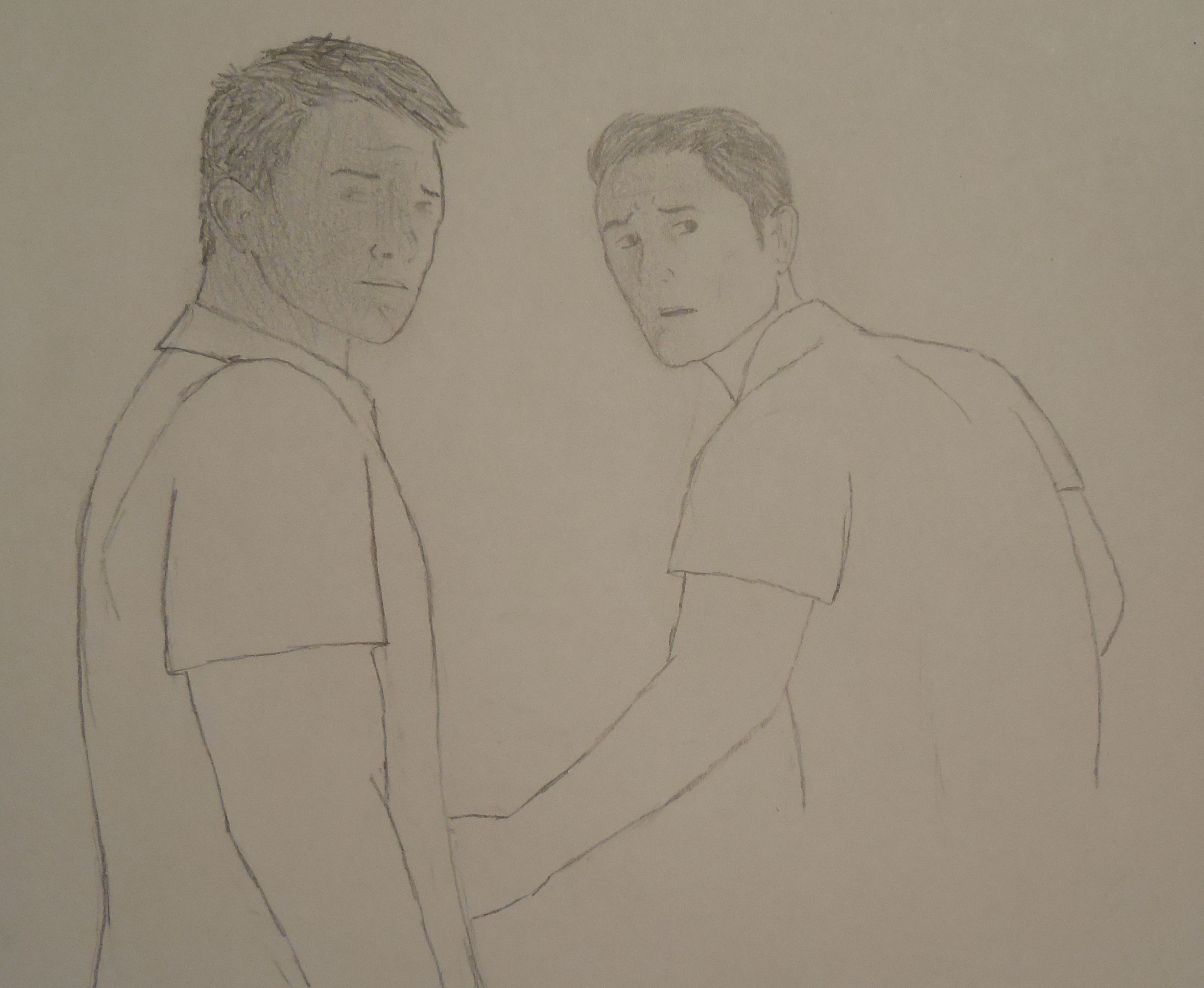 Jack (left) and Adam (right), the hero and his ally from my book Chasing a Phantom.