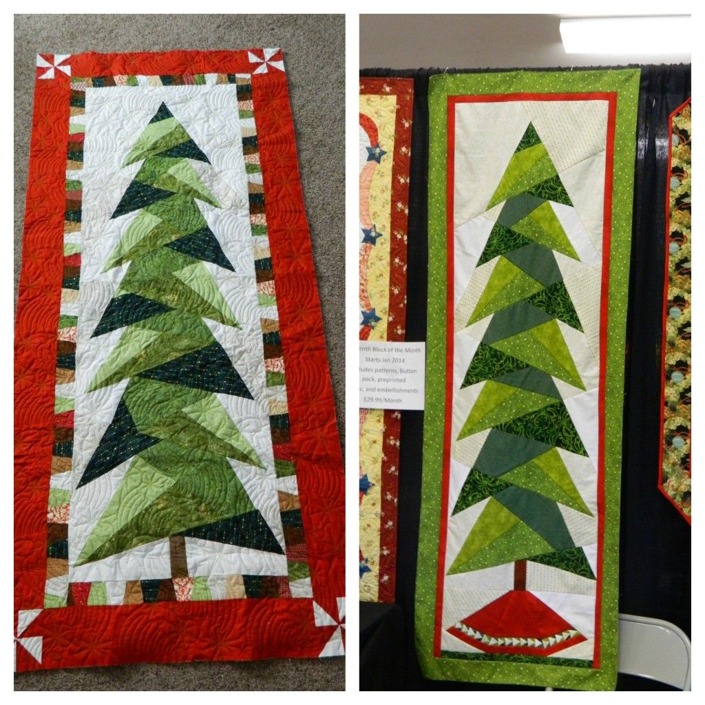 Tall trim the tree wall hanging christmas quilts