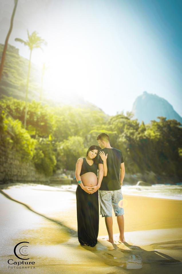 ensaio fotográfico gestante na praia vermelha dreams pregnancy