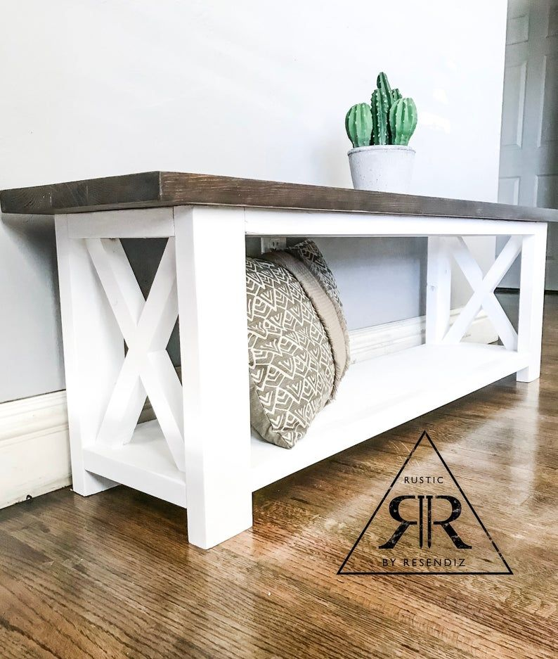 Entry bench| farmhouse Bench
