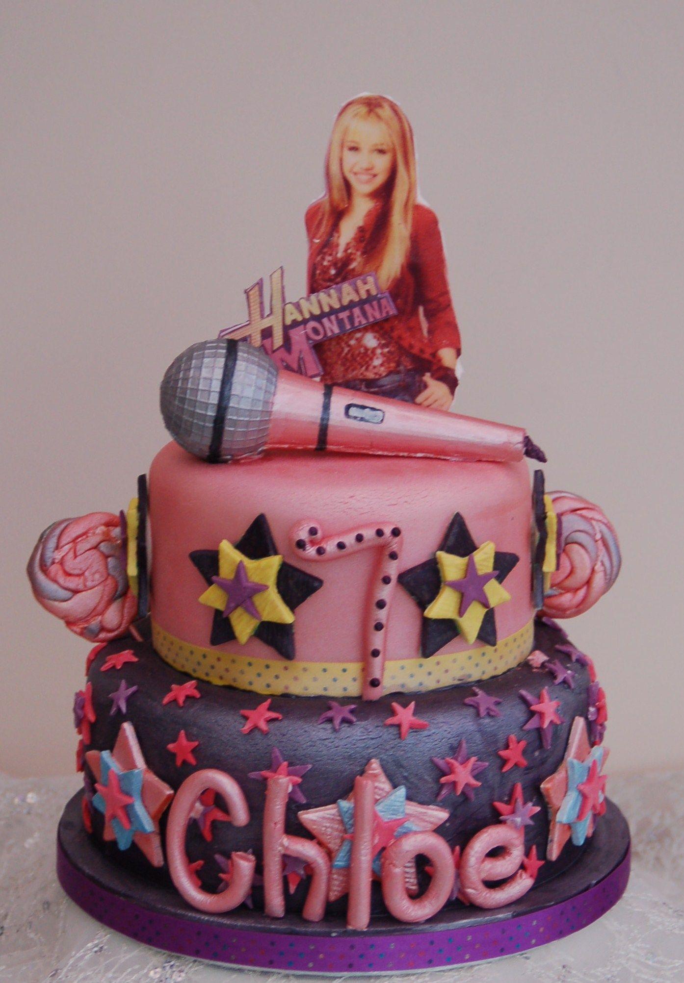 Enjoyable Hannah Montana Birthday Cake Cool Birthday Cakes Birthday Party Birthday Cards Printable Inklcafe Filternl