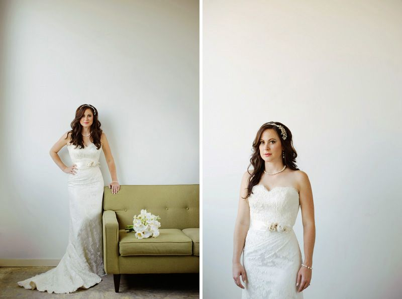 A Utah bride in Modern Trousseau\'s \'Kendra\' lace gown from @Alta ...