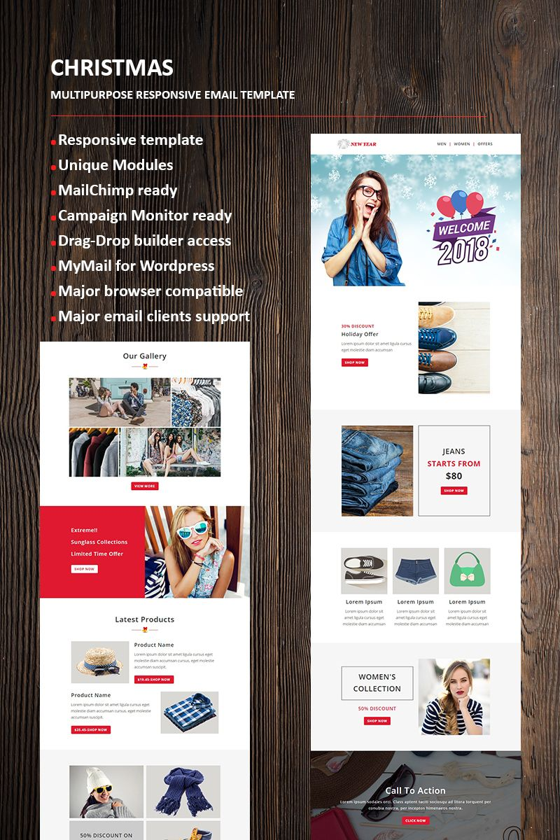 new year email newsletter template newsletter email year template