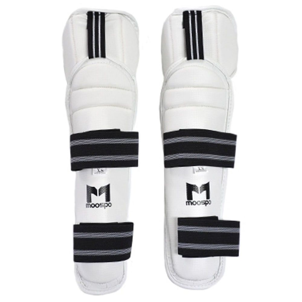 WTF MOOTO Shin Instep Protector PU Korea MMA White  guard gear Gym