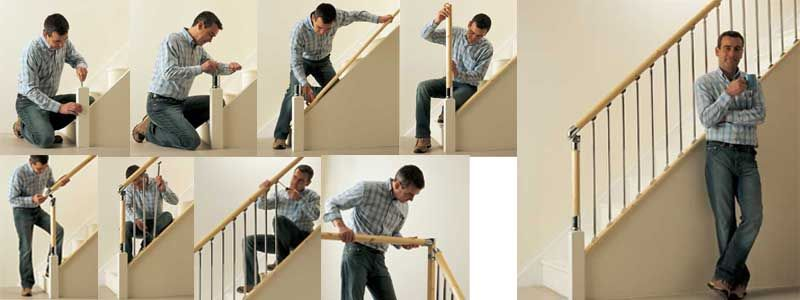 Installation Stair Banister Mountain Laurel Handrails At  Http://awoodrailing.com