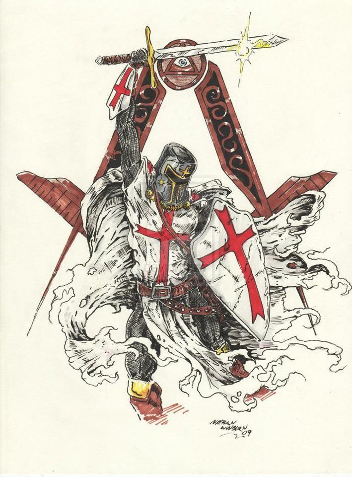 092ac870cd197 Masonic Templar Freemason Tattoo, Masonic Tattoos, Knights Templar Symbols,  Creative Tattoos, Ritter