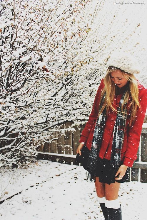 38 cute Christmas outfits for girls: Love this cute winter outfit, snow please hurry!