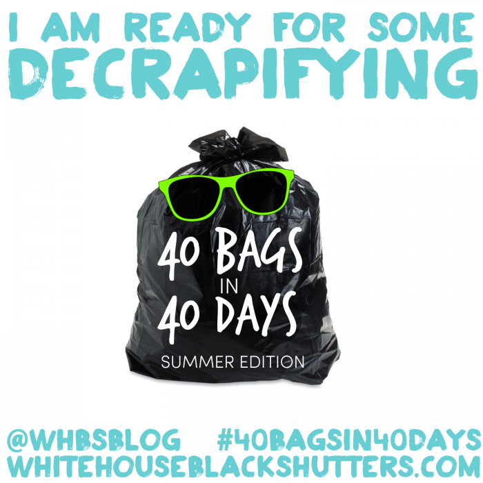 The 40 Bags in 40 Days Decluttering Challenge Bags