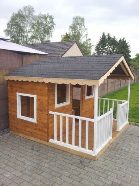 Como hacer una casita de madera con palets ideas para wooden houses and play houses - Como construir una casa ...