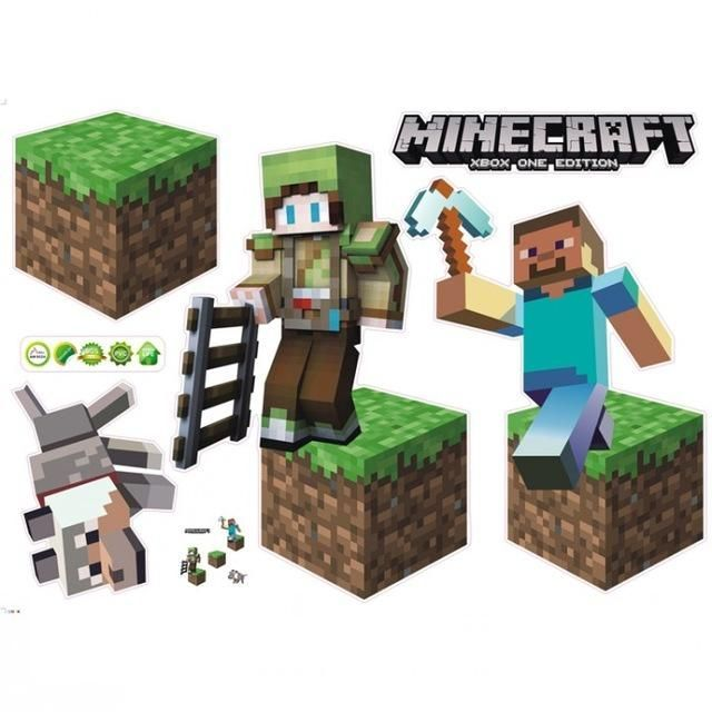 Everything Bargains Newest Minecraft Wall Stickers 3d Wallpapers Kids Room Decal Kinderzimmer Tapete 3d Tapete