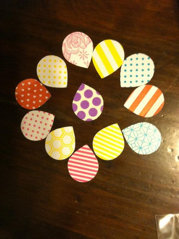 30 Piece Assorted Shape N Tape Tear Drops by creativedesigncorner, $5.00