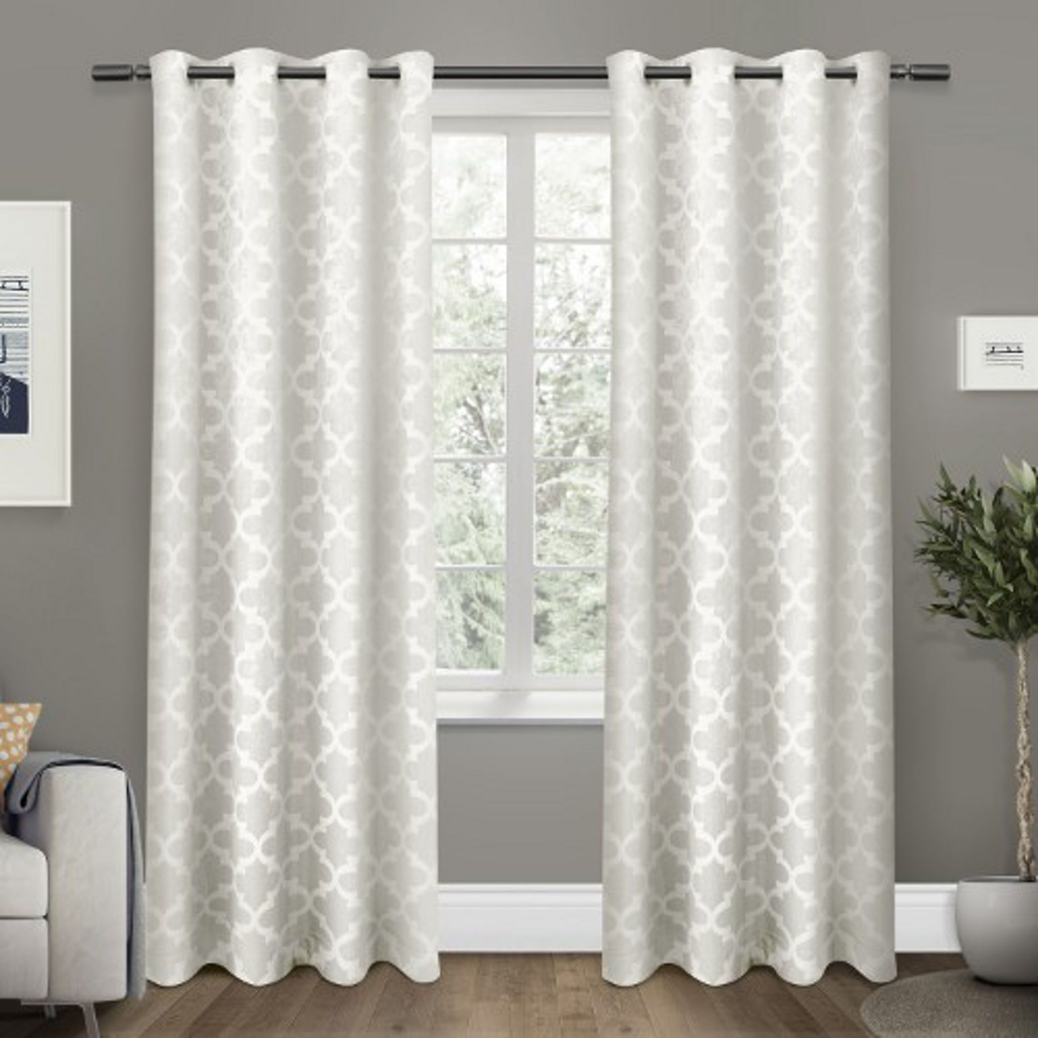 white cartago blackout curtain panel set 84 in
