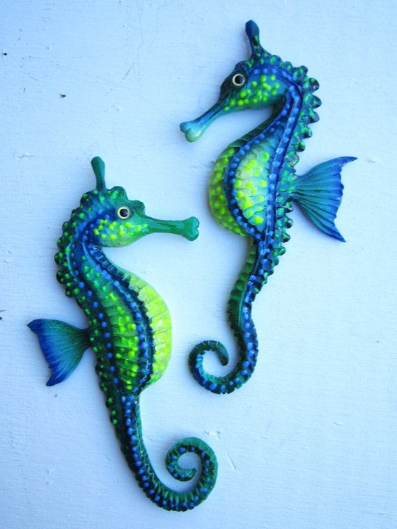 Seahorse wall home decor-wall hanging-seahorse wall by artistJP ...