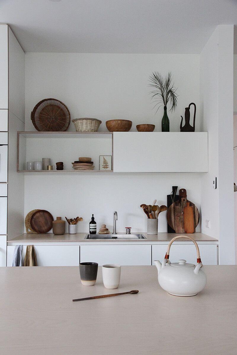 chez tessa hop einrichten und wohnen pinterest minimalistische k che offene k che und haus. Black Bedroom Furniture Sets. Home Design Ideas