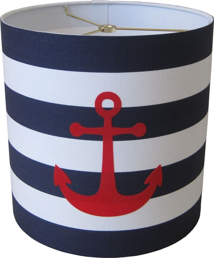 Marvelous Nautical Lamp Shade   Two Tier   Anchors Over Stripes | Nautical .
