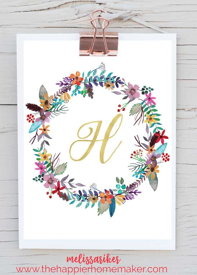 Beautiful free printable monogram art for your home-these would be - free business printables