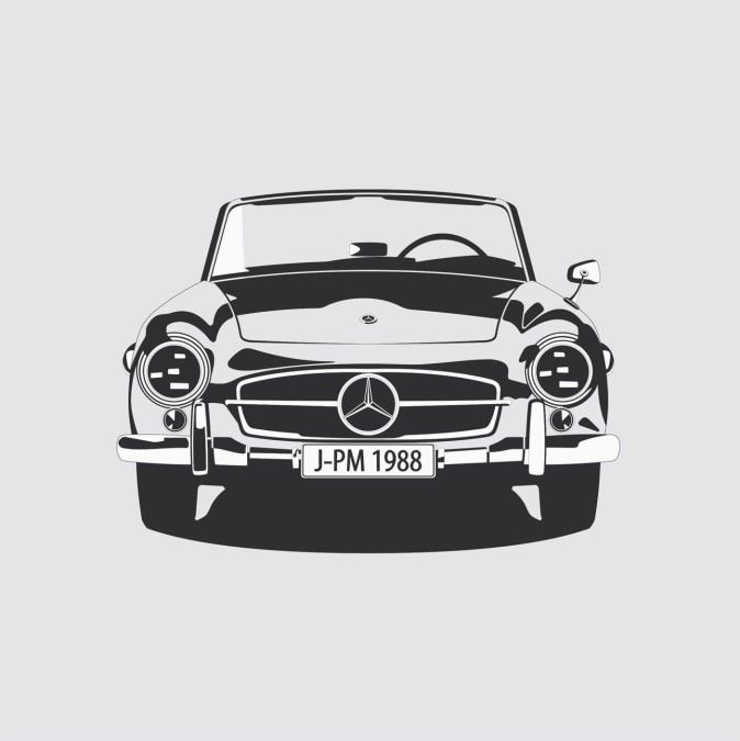 15 Beautiful Illustrations of Iconic Classic Cars