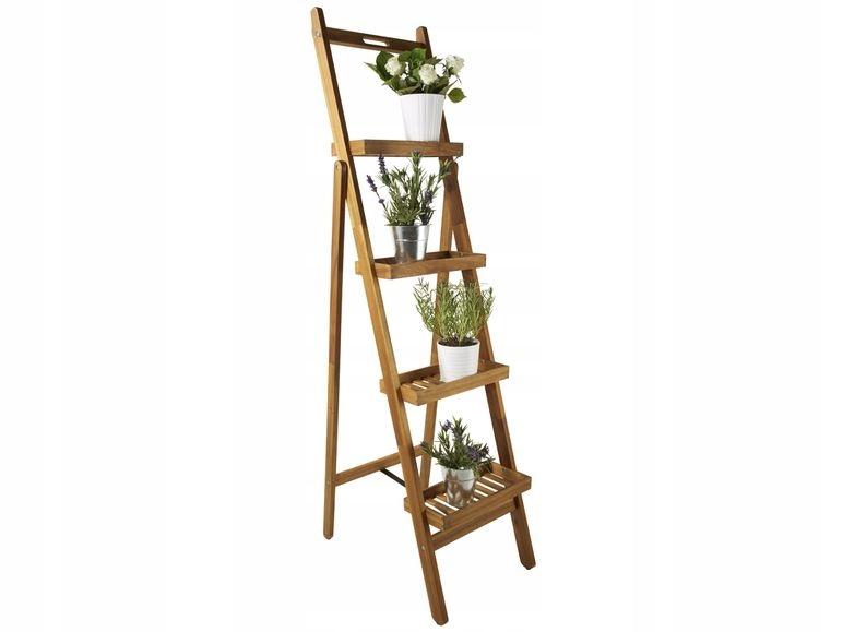 Regal Drabinka Stojak Na Kwiaty Skladany 170cm 8103665889 Oficjalne Archiwum Allegro Dads Room Ladder Decor Ladder Bookcase