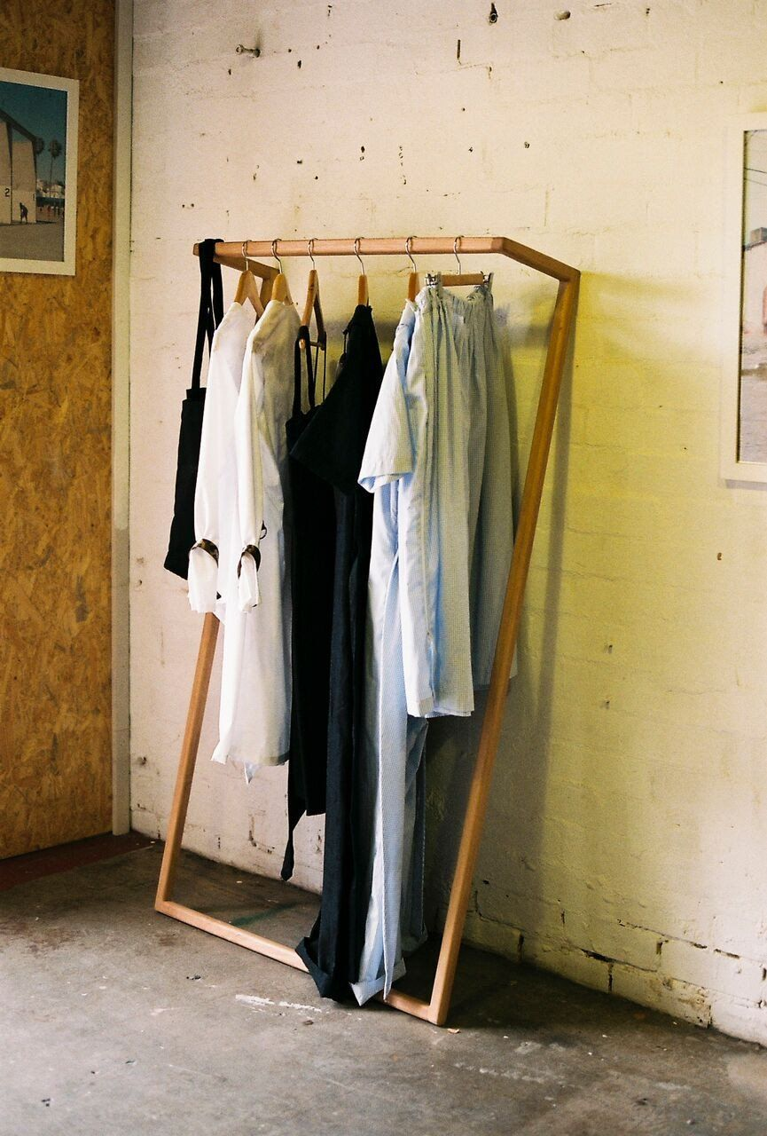 Leaning Clothes Rack Diy Clothes Hanger Rack Clothing Rack Bedroom Diy Clothes Rack