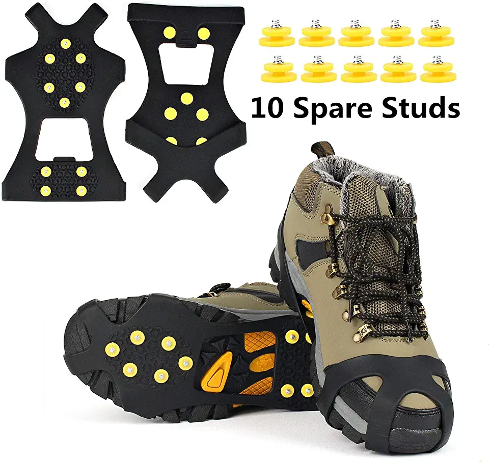 boots ice cleats (With images) Rubber spikes